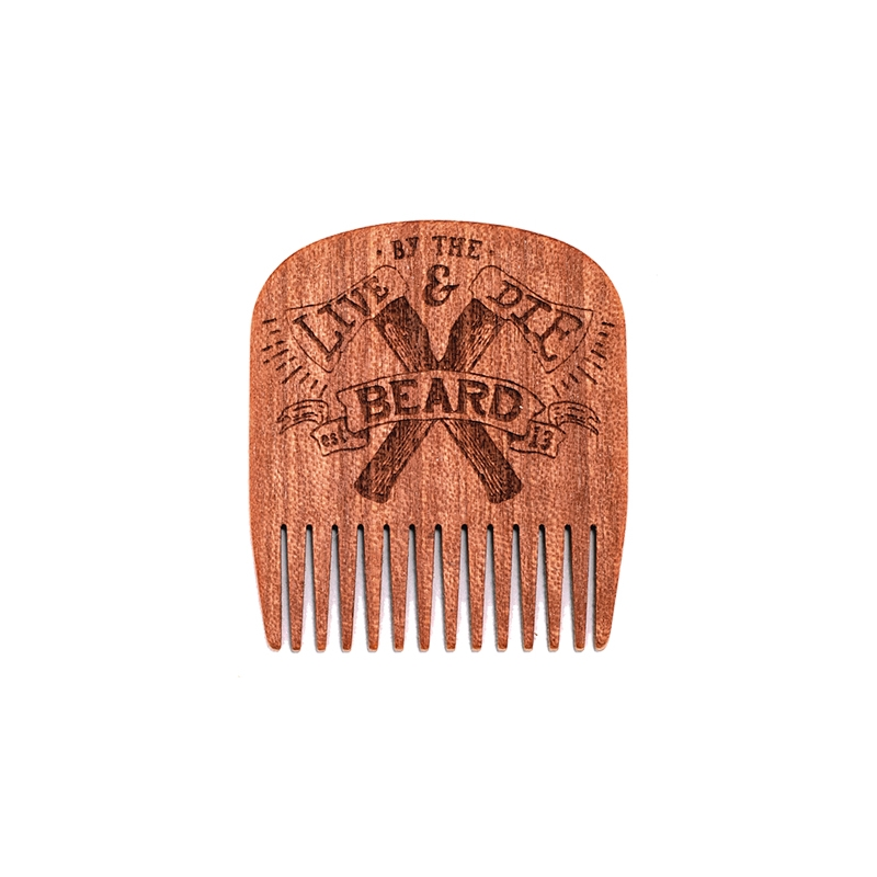 Big Red Beard Combs - Beard comb No 5 Live & Die by the