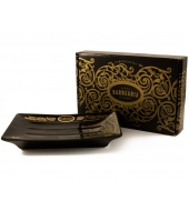 "Antiga Barbearia Soap dish ""Black & Gold"""