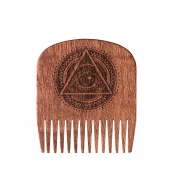 Big Red Beard Combs Расческа для бороды No.5 All Seeing Eye