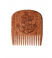 Big Red Beard Combs - Beard Comb No.5 Beards Til Death Anchor