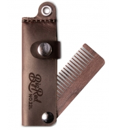 Big Red Beard Combs - Beard comb No.22L fine tooth Brown