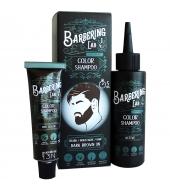Barbering Lab Красящий шампунь Темно коричневый