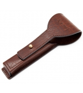 Captain Fawcett leather razor case