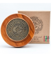 Captain Fawcett Shaving soap Scapicchio in a wooden bowl