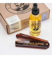 Captain Fawcett Beard kit - Beard Oil & Folding Pocket Beard Comb