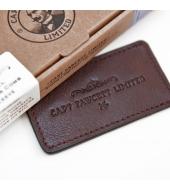 Captain Fawcett Leather Case for Folding Pocket Moustache Comb