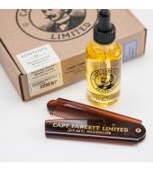 Captain Fawcett Beard kit - Beard Oil & Folding Pocket Beard Comb