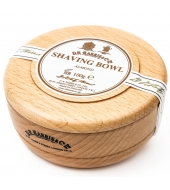 D.R. Harris Shaving soap Almond in wooden bowl