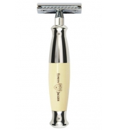 Edwin Jagger Nickel Plated DE Razor Imitation Ivory
