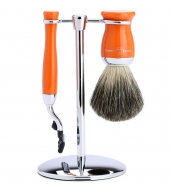 Edwin Jagger Набор для бритья Mach3 оранжевый