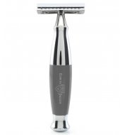 Edwin Jagger DE razor Closed Comb Grey
