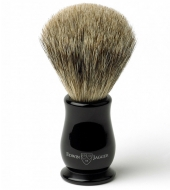 Edwin Jagger shaving brush Premium Best Badger, Ebony
