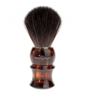 Edwin Jagger Black Fibre Shaving brush, Plastic tortoiseshell