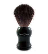 Edwin Jagger Black Fibre Shaving brush, Plastic black