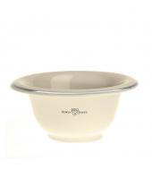Edwin Jagger Shaving bowl, Silver rim, Ivory