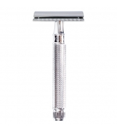 Edwin Jagger razor Closed Comb Knurled Chromed