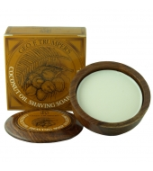 Geo. F. Trumper Shaving soap in wooden bowl Coconut