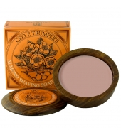 Geo. F. Trumper Shaving soap in wooden bowl Almond