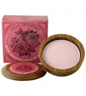 Geo. F. Trumper Shaving soap in wooden bowl Rose