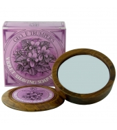 Geo. F. Trumper Shaving soap in wooden bowl Violet