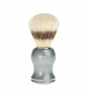 HJM shaving brush, pure bristle, plastic grey