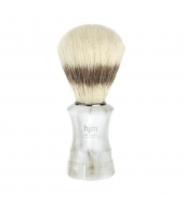 HJM shaving brush, pure bristle, plastic pearl