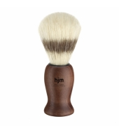 HJM shaving brush, pure bristle, acacia dark brown