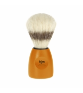 HJM shaving brush, pure bristle, plastic orange