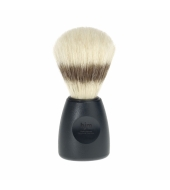 HJM shaving brush, pure bristle, plastic black