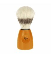 HJM shaving brush, pure bristle, plastic orange XL