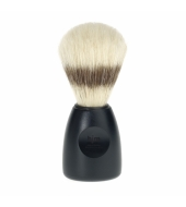 HJM shaving brush, pure bristle, plastic black XL