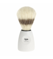 HJM shaving brush, pure bristle, plastic white XL