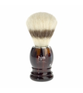 HJM shaving brush, pure bristle, plastic tortoiseshell