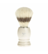 HJM shaving brush, pure bristle, plastic ivory