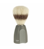 HJM shaving brush, pure bristle, plastic green/grey