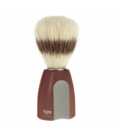 HJM shaving brush, pure bristle,  plastic red/grey