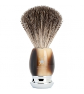 Mühle Shaving brush Vivo Pure badger High-grade resin, Horn brown