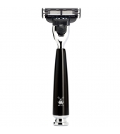 Mühle Rytmo 3-blade razor Mach3® high-grade resin black