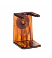 HJM shaving brush holder, tortoiseshell