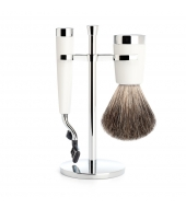 Mühle Shaving set Liscio White Mach3