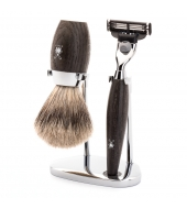 Mühle Shaving set Kosmo Bog oak Mach3