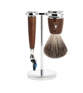 Mühle Shaving set Rytmo Steamed Ash Fusion