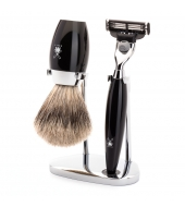 Mühle Shaving set Kosmo Black Mach3
