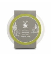 Mühle Aloe Vera Shaving soap in porcelain bowl