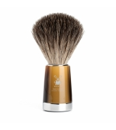 Mühle Shaving brush Liscio Pure badger High-grade resin, Horn brown