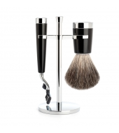 Mühle Shaving set Liscio Black Mach3