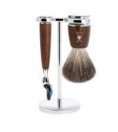 Mühle Shaving set Rytmo Steamed Ash Fusion