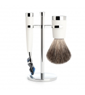 Mühle Shaving set Liscio White Fusion