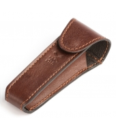 "Mühle Brown leather pouch for ""Traditional"" razors"