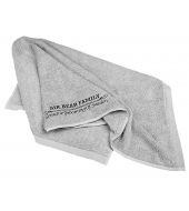 Mr Bear Family Shaving towel Grey